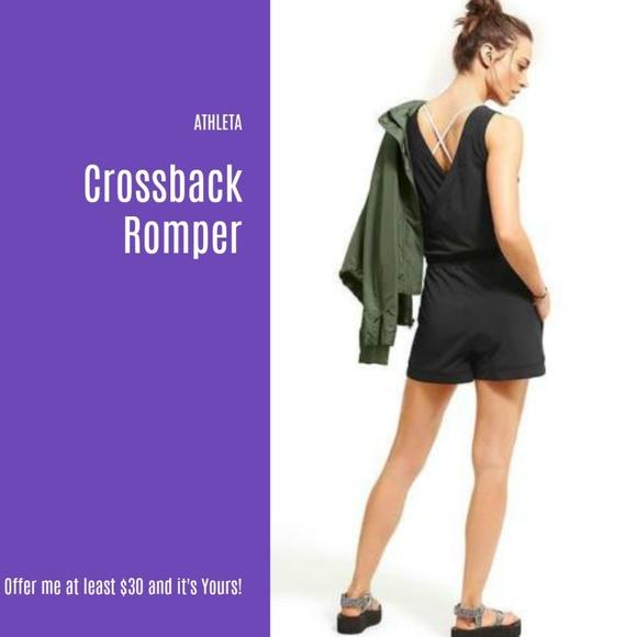 c736e348dadc NWT Athleta Crossback Romper (N22)